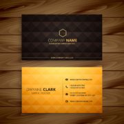 premium diamond shape golden business card